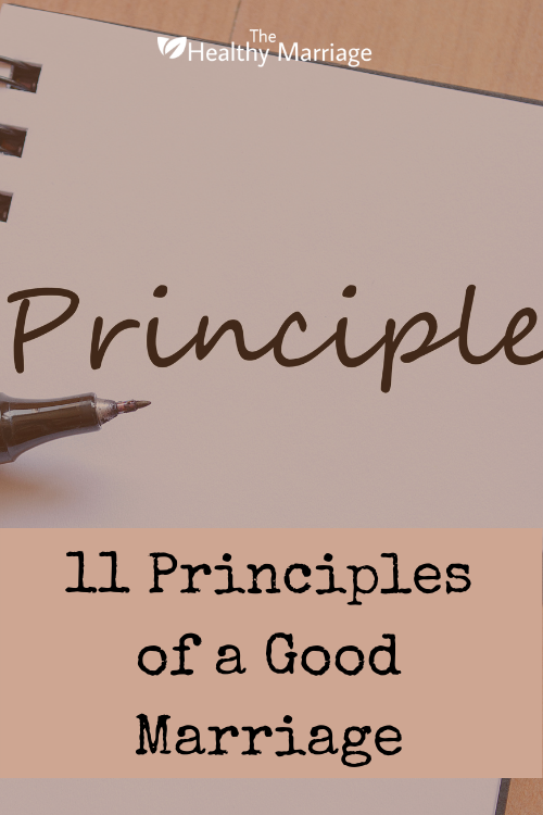 11 Principles of a Good Marriage Pinterest Pin