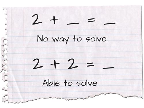 math equation 2+2=4