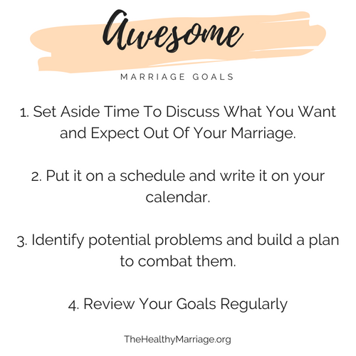 How to create awesome marriage goals