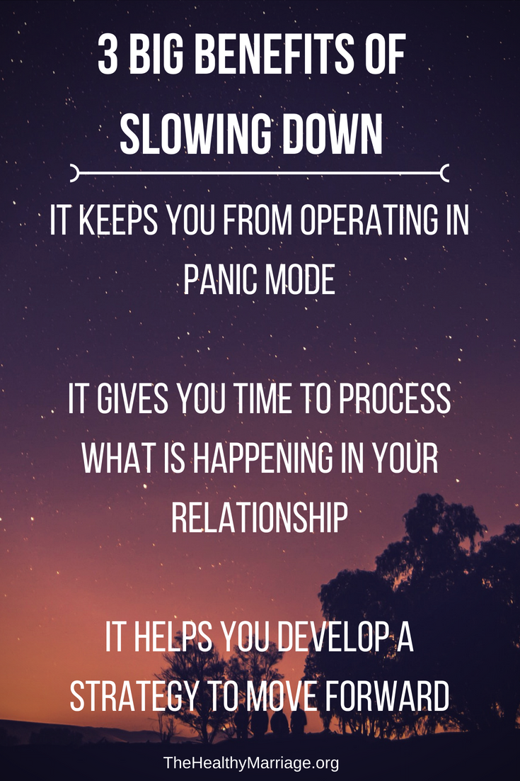 3 Big Benefits of Slowing Down in your marriage