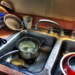 image of messy kitchen sink