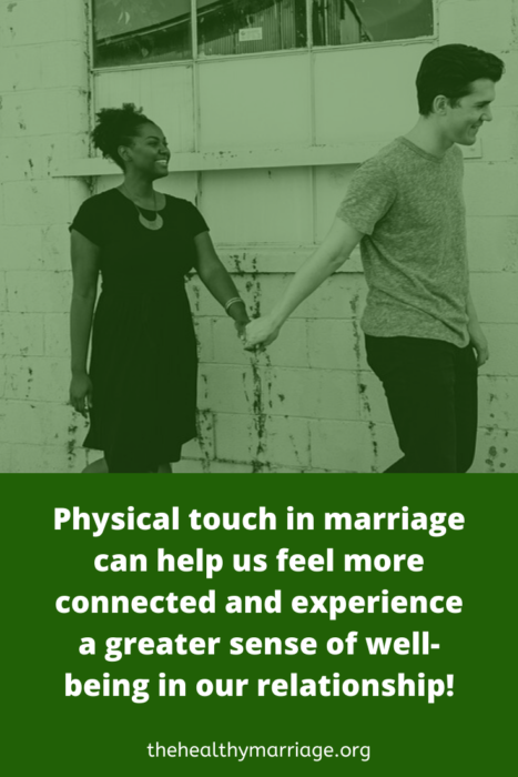 feel more connected through physical touch