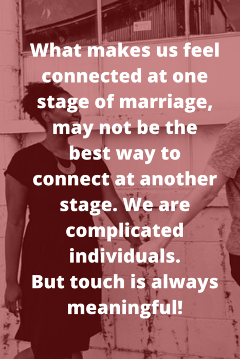 physical touch helps us feel connected