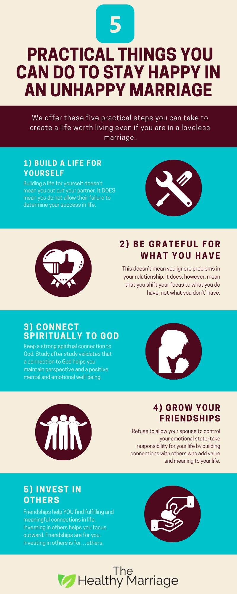 5 Practical Things You Can Do To Stay Happy In An Unhappy Marriage