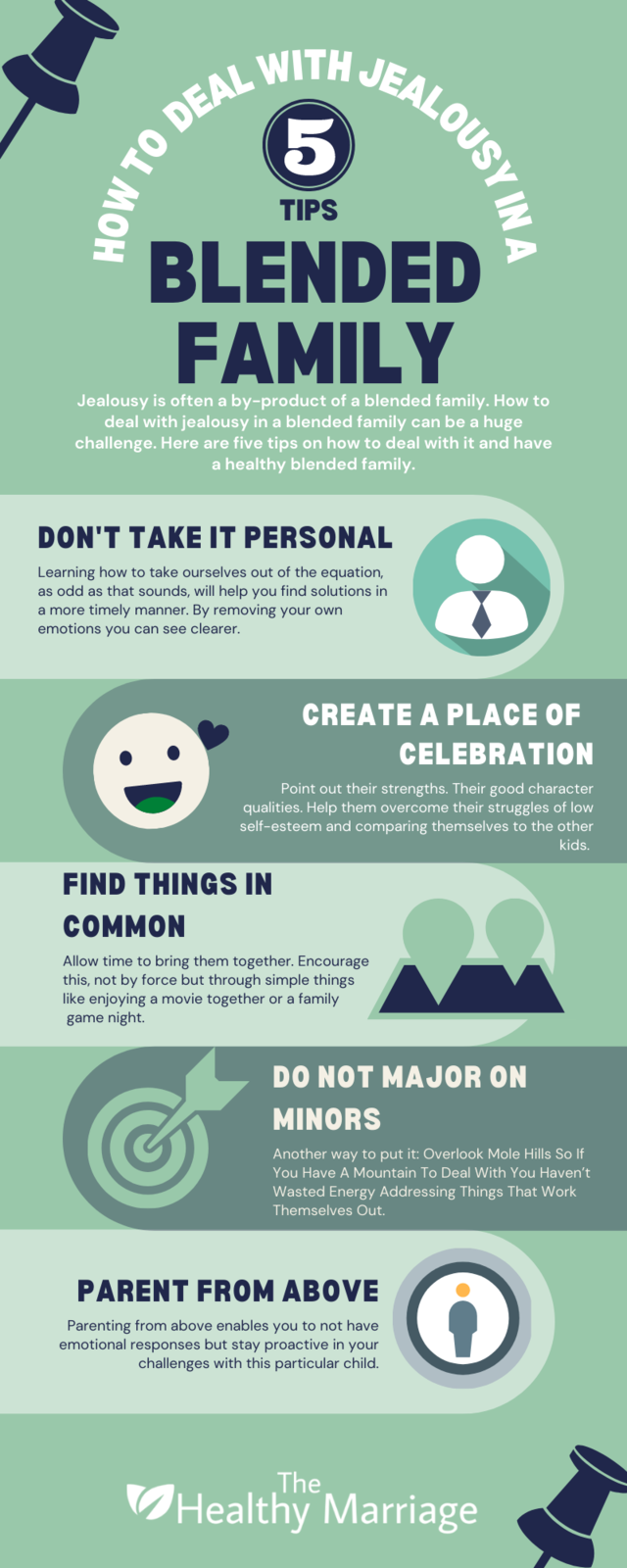 5 Tips on How To Deal With Jealousy in a Blended Family Infographic