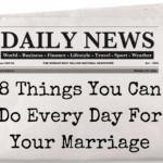 daily newspaper with headline