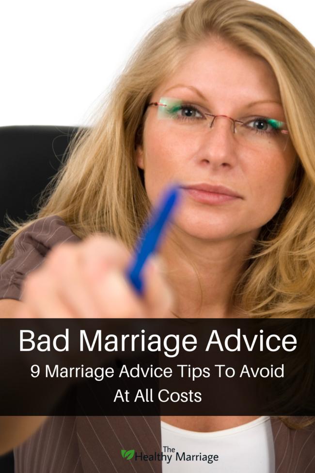 Bad Marriage Advice Pin