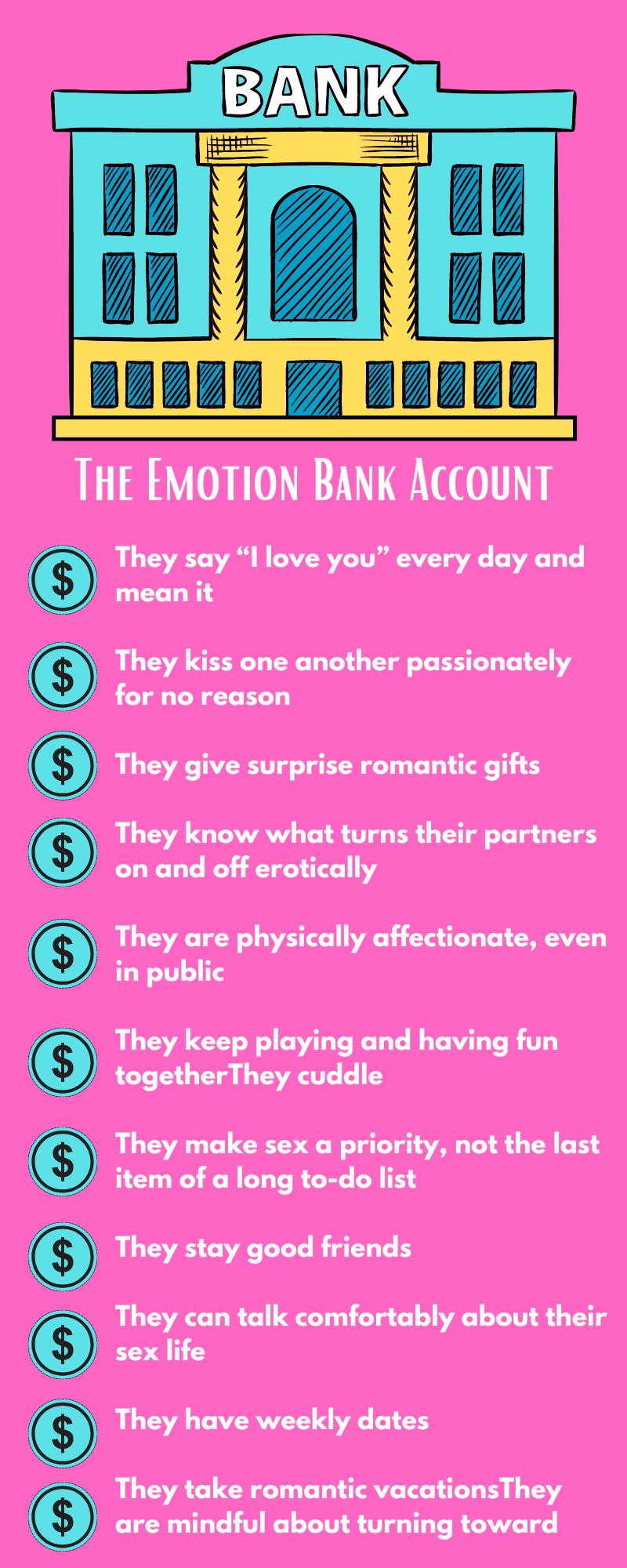 John Gottmans 13 emotional deposits into your spouse
