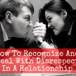 Couple fighting demonstrating disrespect in their marriage