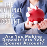 Woman holding a piggy bank representing an emotional bank account