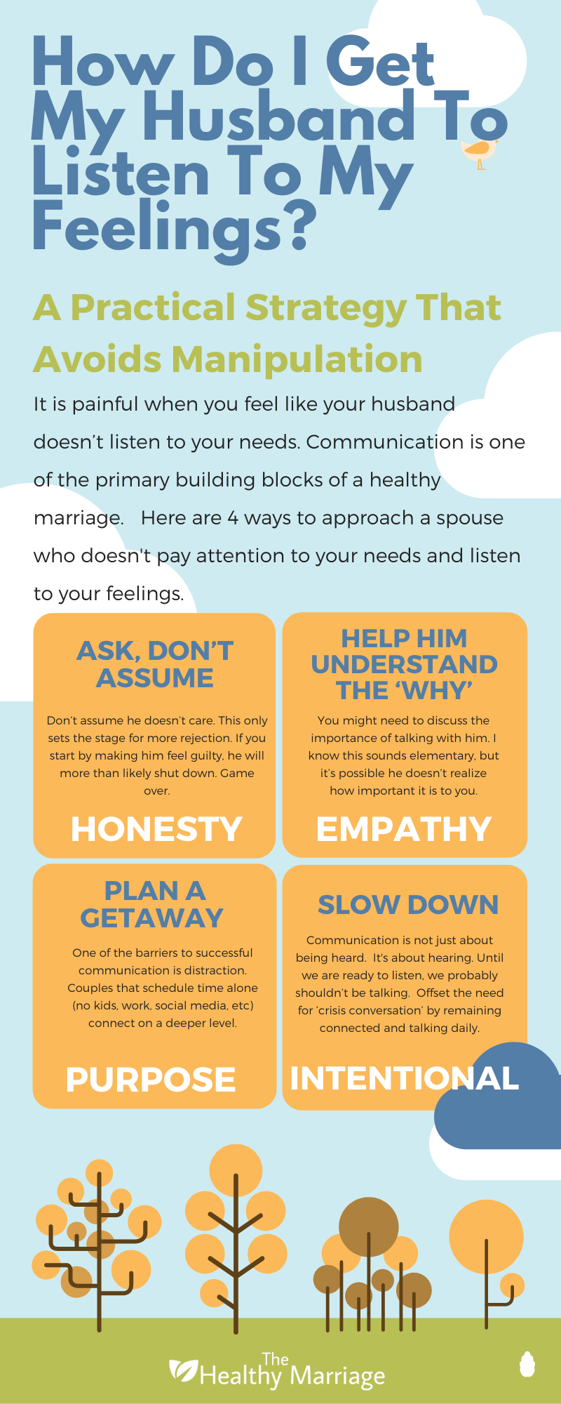 How to get my husband to listen to my feelings