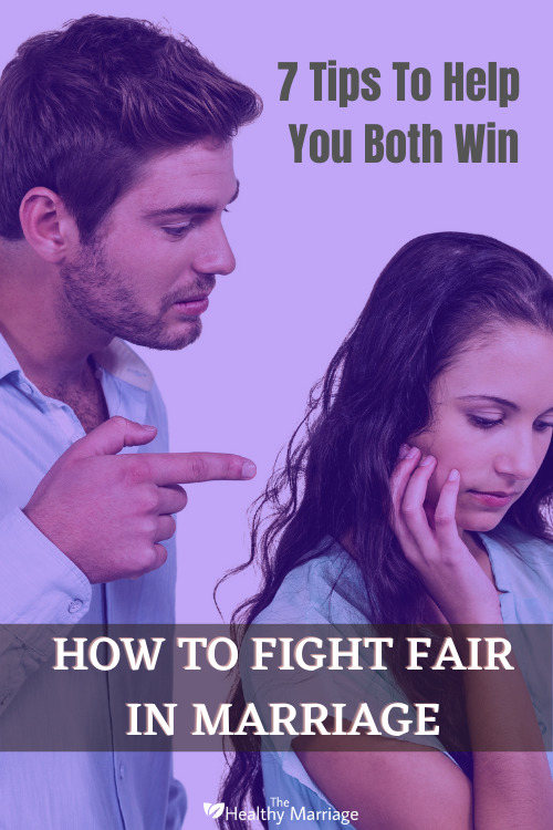 How To Fight Fair In Marriage Pinterest Pin