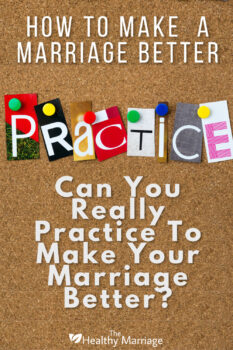 Can you really practice to make marriage better
