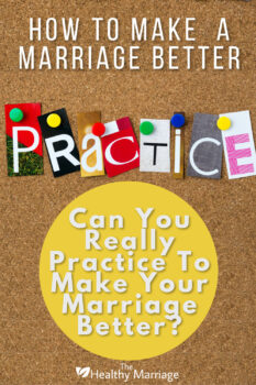 How to work to make a marriage better
