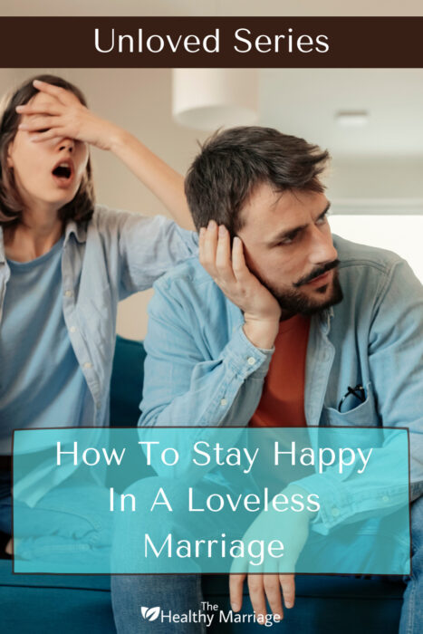 Pinterest pin of unhappy couple in a loveless marriage