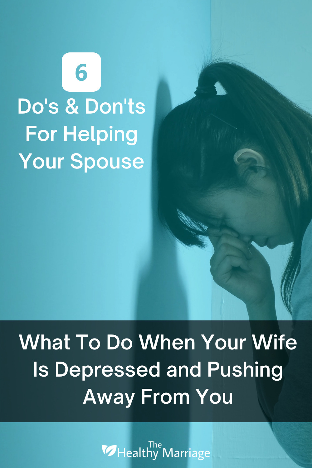 What To Do When Your Wife Is Depressed and Pushing Away From You Pinterest Pin
