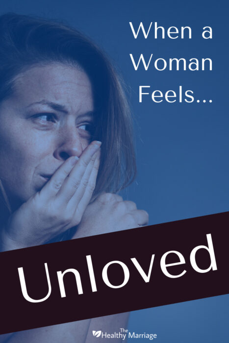 Pinterest Pin of a woman who feels unloved in her marriage