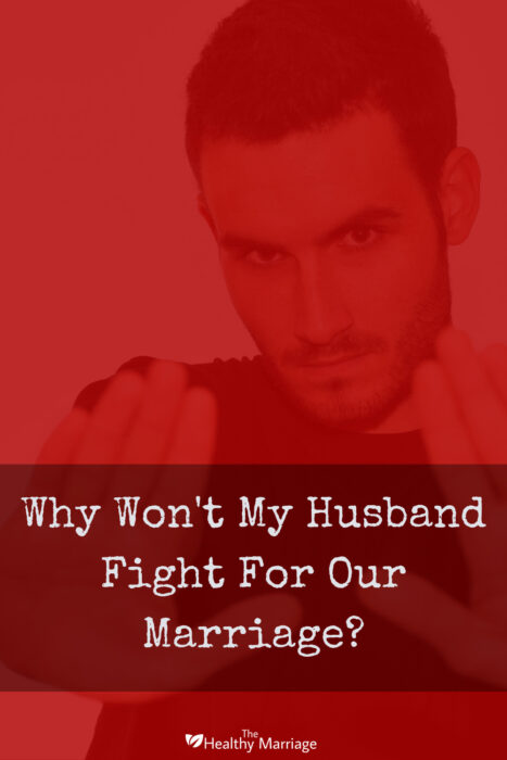 Pinterest pin of man refusing to fight for his marriage