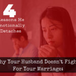 Couple fighting because husband will not fight for the marriage