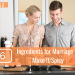 couple mixing ingredients for a cake