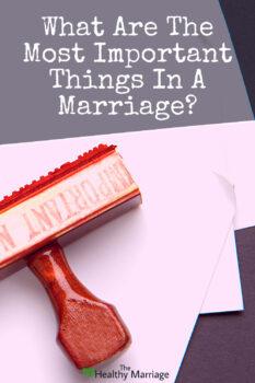 Priorities in marriage