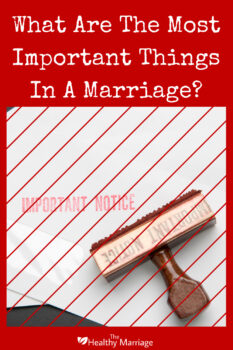 important things in marriage